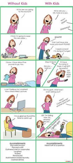 Talking on the Phone Without Your Kids vs. With Your Kids | More LOLs & Funny Stuff for Moms | NickMom