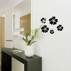 Docooler Modern DIY Large Wall Clock Mural 3D Mirror Sticker Time