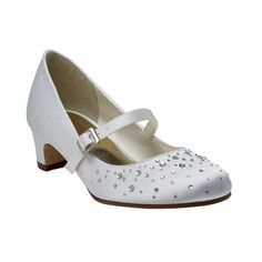Cheeky little Cherry is a super sparkly bar communion shoe that comes in white satin. Designed exclusively for communions - our sophisticated Rainbow Club Communion Kids Shoes combines fun and practicality. Communion Shoes, White Satin, Low Heels, Cherry, Floral Prints, Dress Shoes, Take That, Sparkle, Wedding Ideas