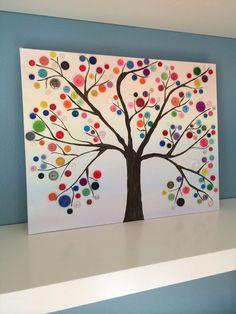pintrest crafts | My Christmas Pinterest craft! Button Tree