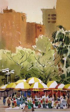 Shari Blaukopf - Waterloo Street at dawn | The Sketchbook