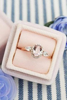 morganite engagement rings oval