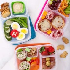 Use divided lunch boxes