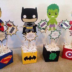 Superhero Centerpiece, Superhero Party Decorations, Superhero Theme Party, Birthday Party Centerpieces, Hulk Party, Avengers Birthday, Batman Birthday, Superhero Birthday Party, 4th Birthday Parties