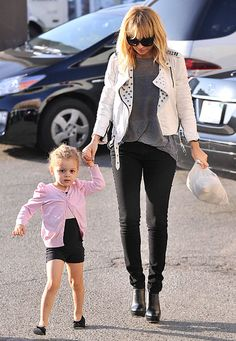 """Nicole Richie and Harlow  """"My daughter looks exactly like me, and she has Joel's personality. She's very careful,"""" Joel Madden's wife says of their little girl. """"She doesn't make a move without fully thinking about what the consequences would be and what that means."""""""