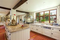 Beautiful historic white kitchen.