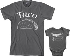 Amazon.com: Threadrock Taco & Taquito Infant Bodysuit & Men's T-Shirt Matching Set: Clothing