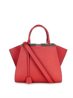 bb3bdb3c0492 3Jours small leather trapeze tote