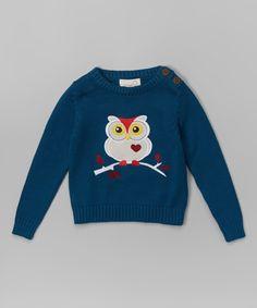 Teal Owl Organic Sweater - Infant, Toddler & Boys