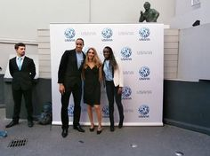 with Christelle Bourgeois Marketing Director for Usana France and Pascal Martinot-Lagarde Top french athlet of the world