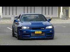 Nissan Skyline GT-R R34 & R33 - CRAZY Revs, Flames & Accelerations!