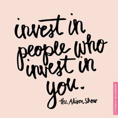 invest in people.