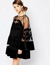 Buy Alice McCall Bell Sleeve Mini Dress with Sheer Insert at ASOS. With free delivery and return options (Ts&Cs apply), online shopping has never been so easy. Get the latest trends with ASOS now. Elegant Dresses, Cute Dresses, Beautiful Dresses, Short Dresses, Tall Dresses, Mini Dresses, Alice Mccall, Glamouröse Outfits, Mini Dress With Sleeves