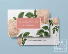 Diseño de tarjeta de visita floral flores por 101prettydesigns