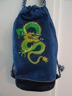 Rucksack mit Drache Drawstring Backpack, Backpacks, Bags, Fashion, Dragons, Handbags, Moda, Fashion Styles, Backpack