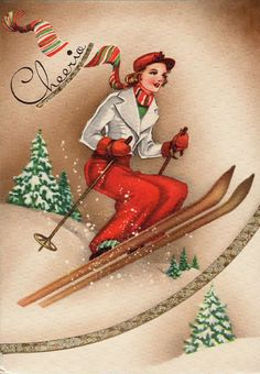 "Vintage Christmas card....""Cheerio"""