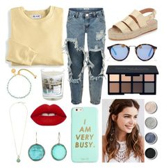 """""""yellow and blue"""" by reeseowens on Polyvore featuring Blair, One Teaspoon, Maison La Bougie, Astley Clarke, Loeffler Randall, Madewell, Smashbox, Cole Haan, Ippolita and Lime Crime"""