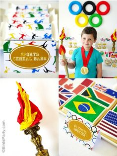Going for Gold: Olympics Inspired Party Ideas and NEW Printables!
