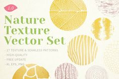 Nature Texture Vector Set I wish to have these textures saved you from the routine. Beautiful patterns taken from nature are suitable for many purposes. From web design to branding. So easy to customize with endless creative outcomes. Graphic Patterns, Cool Patterns, Beautiful Patterns, Graphic Design, Beautiful Beautiful, Simplicity Patterns, Textures Patterns, Vector Pattern, Pattern Design