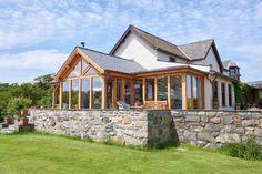 Garden Rooms & Conservatories - Welsh Oak Frame Oak Framed Extensions, Oak Framed Buildings, Oak Frame House, Modern Cottage, Interior Design Inspiration, Home Remodeling, Building A House, Welsh, House Design