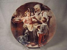 1977 Numbered Norman Rockwell 'The Toy Maker' Collector Plate, Near Mint, Christmas