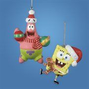 "KSA SB1111 SPONGEBOB: 3"" Nickelodeon Holiday Spongebob Squarepants Christmas Ornament"