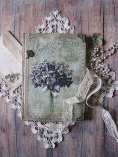Journal violet journal cahier vintage style par BethStyleBook