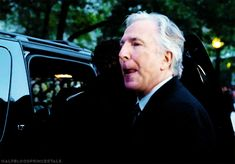 halfbloodprincestale: Alan Rickman arriving at the TIFF [2014] soooooo cute!!!!