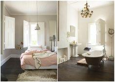 dark wood floor bedroom