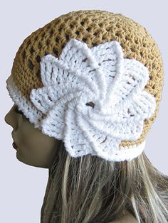 Crochet - Accessory Patterns - Hats, Hoods & Head Warmers - Spiral Flower Summer Hat