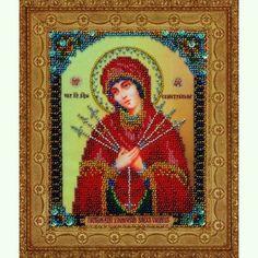 Икона Божией Матери Семистрельная Р-159 (Умягчение злых сердец)