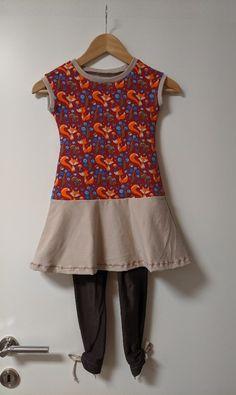 Herbstliches Mädchenkleid nach einem Schnittmuster von Pattydoo.