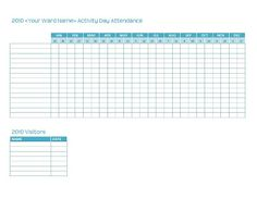 Employee Annual Leave Record Format In Ms Excel  Attendance Sheet