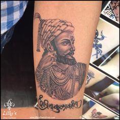 Lilly's Fine Tattoo Best Tattoo Studios in Mumbai Creative Tattoos, Cool Tattoos, Tatoos, Shivaji Maharaj Tattoo, Shivaji Maharaj Hd Wallpaper, Shiva Tattoo, Tattoo Designs Wrist, Hindu Dharma, Buddha Painting