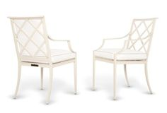 Otey Dining Arm Chairs  Traditional, Transitional, Metal, Armchair by Mc Kinnon And Harris