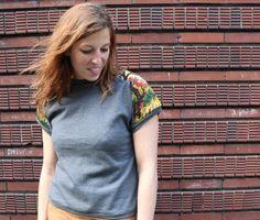 """Sweat-shirt """"le canevas de Fanny"""" de Adaoz sur DaWanda.com"""