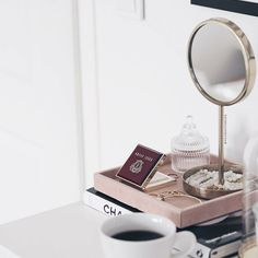 Essentials ✨ Glossy morning with (I'm in love with the color of that compact!) Have a good day guys ☕️ . Keep It Simple, Morning Light, Breakfast Time, Coffee Love, Little Things, In This Moment, Mirror, Compact, Essentials