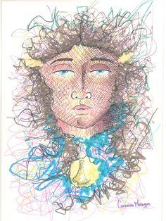 Virgen del Valle (fragmento), 2015 mixta sobre papel 22x29 cm