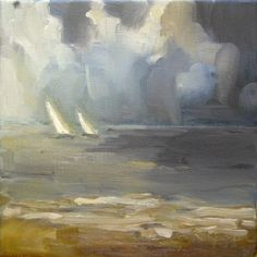 two sails - oil painting - 8 x 8
