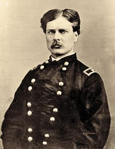 When George A. Forsyth, shown here between 1861 and 1865, found himself severely wounded, he gave his only map to Jack Stilwell, who volunteered with Pierre Trudeau to fight through Indian lines to get to Fort Wallace for relief.