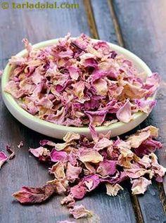 Rose Petals Glossary | Recipes with Rose Petals | Tarladalal.com
