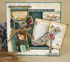 Use a 3D box frame on this card to really give it depth and character! Read on to find out how Claire Newcombe created this festive greeting using the magical new range from Graphic 45…