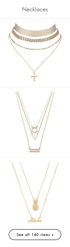 """Necklaces"" by janay1206 ❤ liked on Polyvore featuring jewelry, necklaces, accessories, chokers, gold, choker necklace, layered necklace, thick choker, thick choker necklace and layered choker necklace"