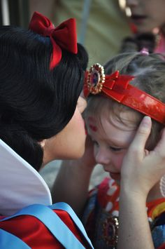 Snow white gave me a kiss on the forehead too, when I was two years old, my parents told me this story like a hundred times :)