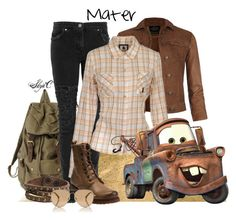 """""""Mater - Disney Pixar's Cars"""" by rubytyra ❤ liked on Polyvore featuring AllSaints, Christopher Kane, Duck Farm, Zad, Frye, Michael Kors, BackToSchool, disney, pixar and cars"""