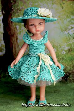 KasatkaDollsFashions: Наряды с ананасами крючком для кукол Паола Рейна