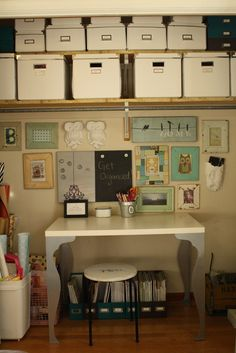 home tour - Primitive and Proper | craft room in a closet