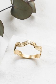 By developing your own ring you are usually reducing the cost of the rings. You see most rings are developed by some popular wedding ring designer and the price is based on the popularity of the designer. Wedding Ring Designs, Unique Wedding Bands, Thing 1, Leaf Ring, Delicate Rings, Leaf Earrings, Boho Rings, Vintage Engagement Rings, Bohemian Jewelry