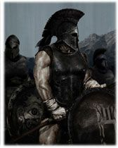 The Spartans were had lots of war tactics. They defeated the Persians with 300 Spartans. They formed a formation that allowed them to easily fight together.