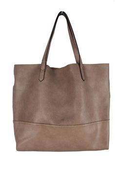 Street Level Large Shopper Tote Taupe